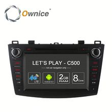 Ownice factory price Octa core Android 6.0 car DVD GPS for Mazda 3 2008 - 2012 with RDS support DSP dvr TV