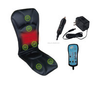 Sojoy 12V Electric Heating Massage Car Seat Cushion with Six Motors
