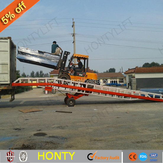 10T capacity hydraulic tailgate lift container yard ramp
