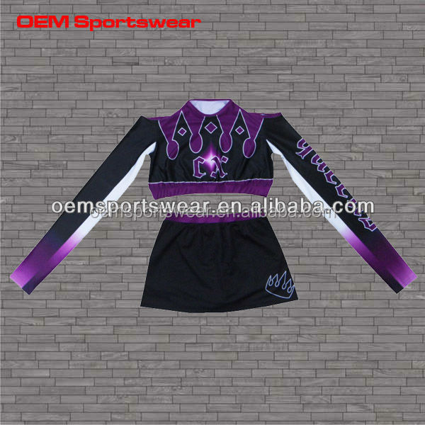 Maßgeschneiderte Tanz-Team hot sublimation cheerleading uniform