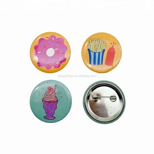 Custom Printed Round Pinback Button Badge with Safety Pin for Promotion