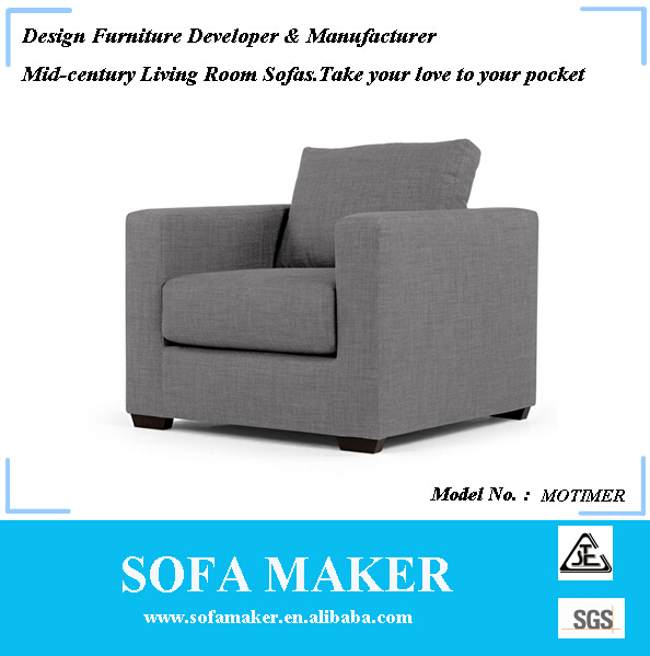 Simple Design Sofa Living Room Furniture with Solid Wood Legs MORTIMER