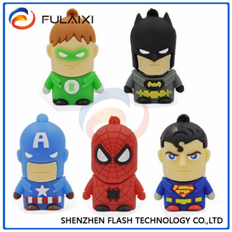 High speed PVC usb <strong>flash</strong> ,driver support win98 cartoon supermen shape gift usb <strong>flash</strong> drive