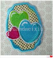 Free sample girls silk ribbon embroidery designs and sequins iron on patch