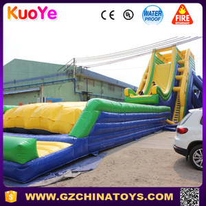 43ft exciting over the edge big water slide inflatables
