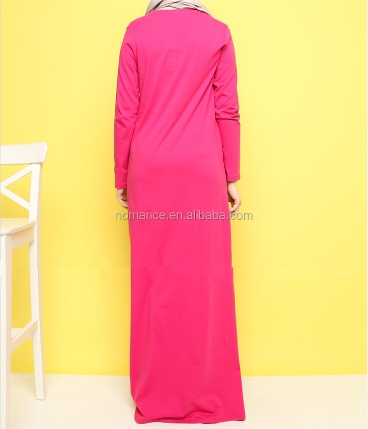 b8fba176492 Factory New Long Sleeve Cotton Maxi Dress Soft Casual Clothing Indonesia  Muslim Dress