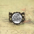 Dragon ring Norse god artwork art glass Photo Cabochon ring