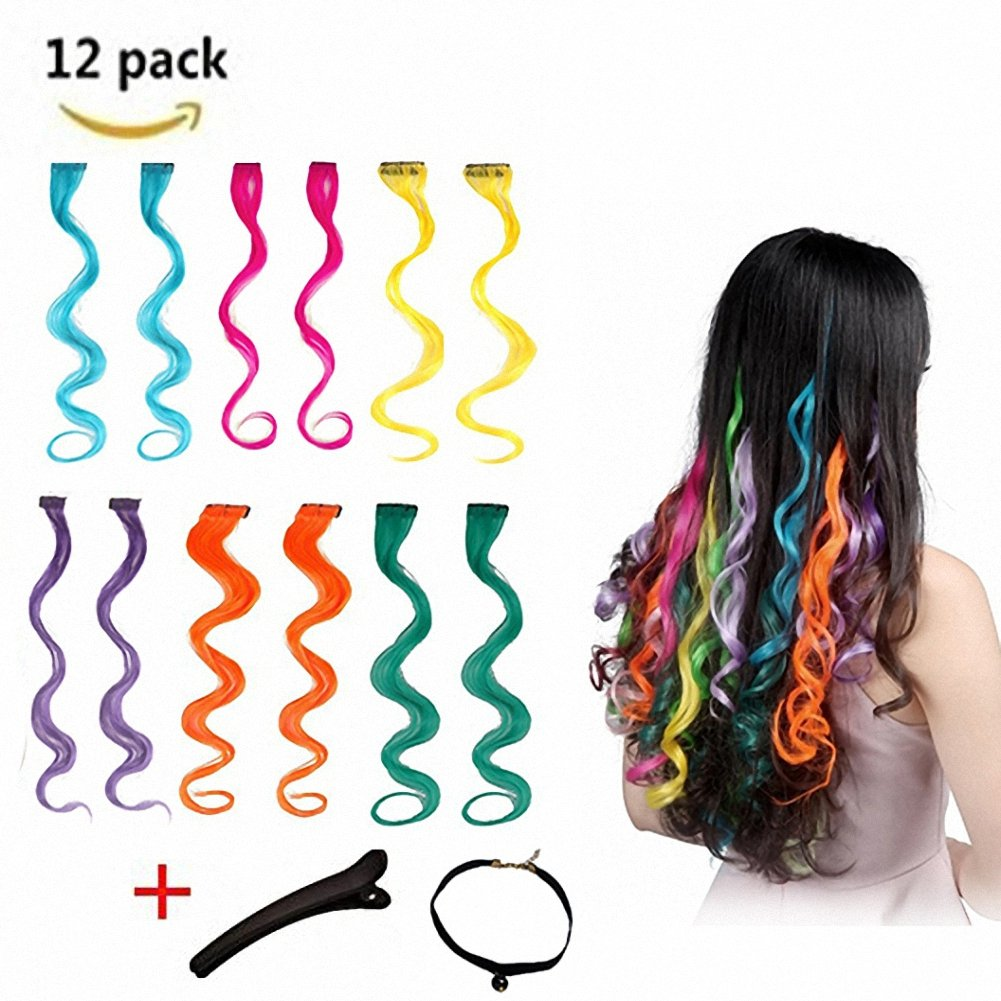 Buy Feshfen Curly Wave Clip On In Hair Extensions Hairpieces 18