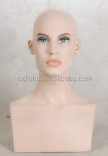 hot sell female mannequin head with shoulder mannequins female