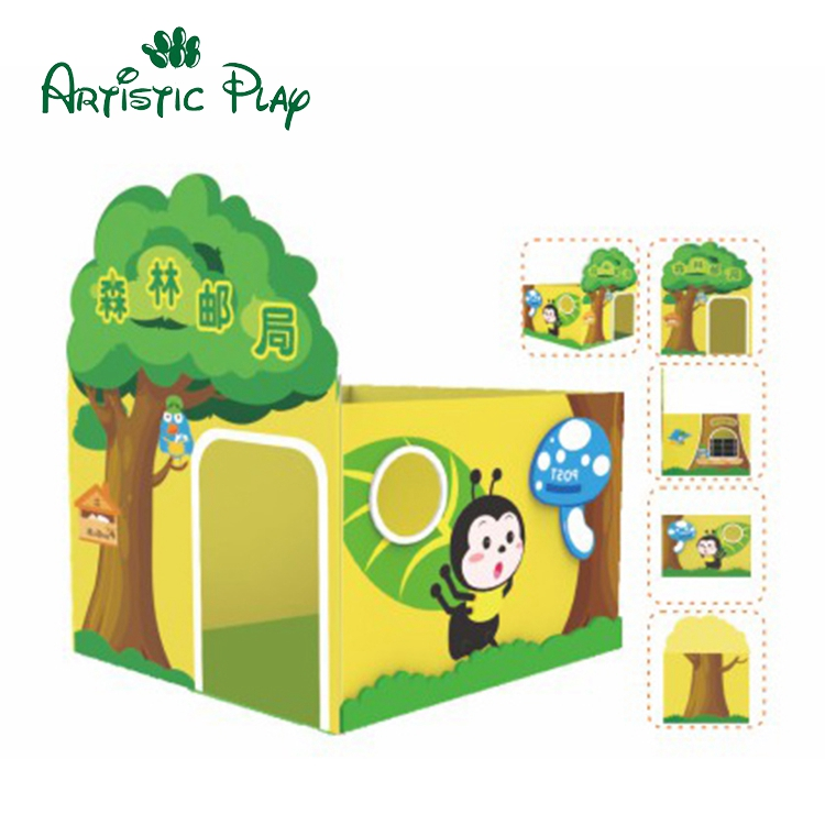Indoor Wooden forest post office doll House for kids