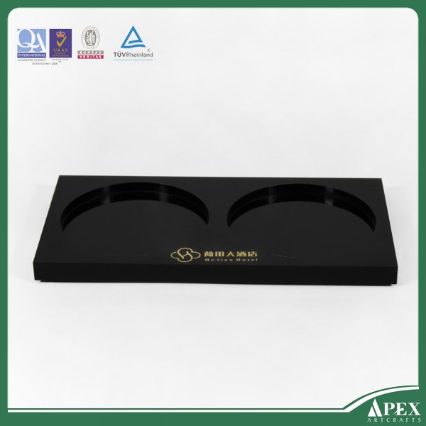 Umbrella acrylic plastic tray With Handles