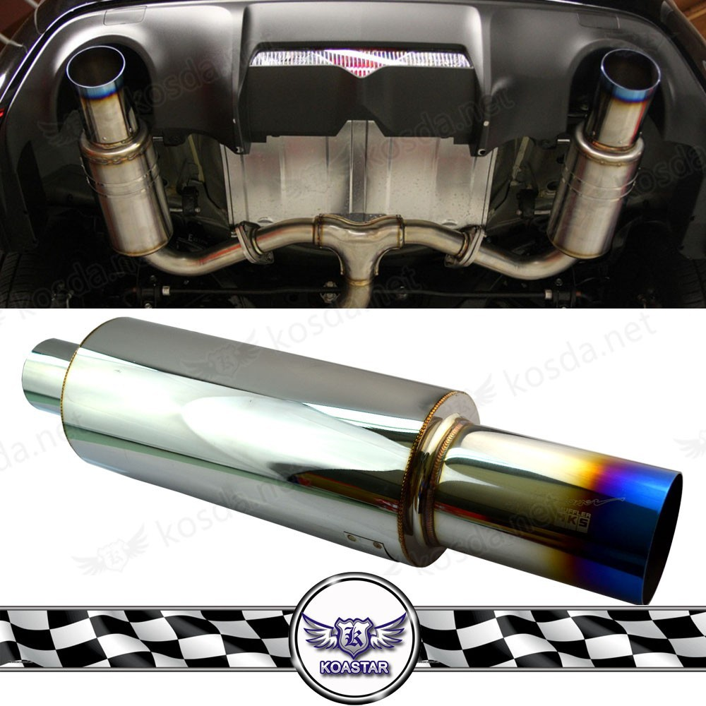 JDM Stainless Steel Universal titanium Muffler, cheap racing exhaust muffler