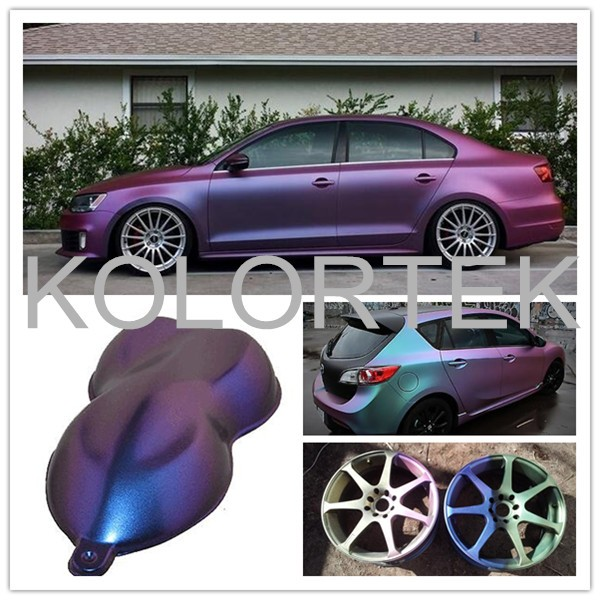 Kolortek chameleon color changing car paint pigment color for Car paint color changing