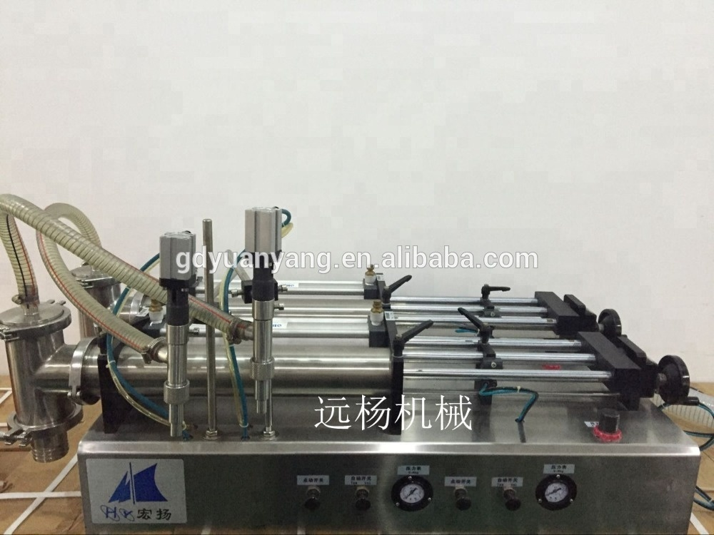 Low price and high precision semi auto liquid and viscous liquid filling machine for beverage and food manufacturer
