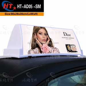 Wholesale PP plastic taxi top advertising light box with high quality led