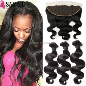 Wholesale Alibaba Stock Price 6a Malaysian Body Wave Virgin Hair 3 Bundles With 13x4 Ear To Ear Lace Frontal Closure