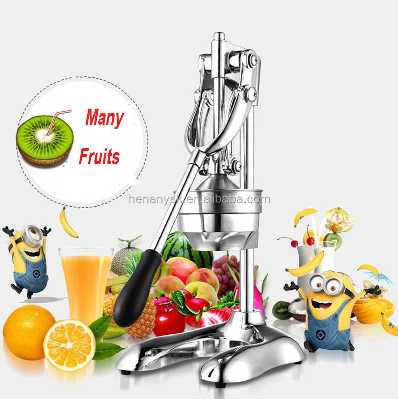 304 stainless steel manual fruit juicer making machine lemon orange juicer