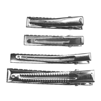Nickle Free No Electroplating Black Mark Various Size Rectangle Alligator Hair Clip