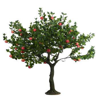 Sjpgs 02 jard n decoraci n artificial apple rbol plantas for Decoracion de jardines con arboles frutales