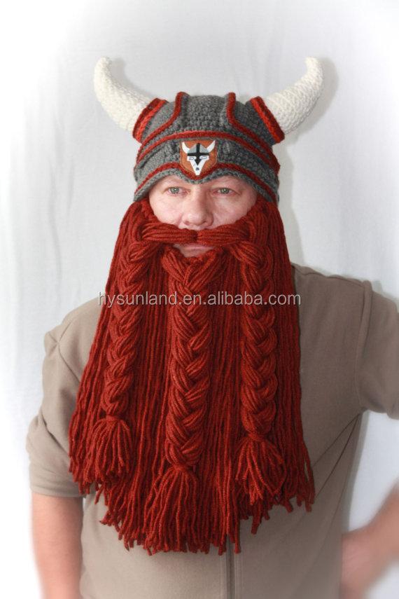 W-161 Punto Cuernos Barba Sombrero De Viking Para Adolescentes Y ...