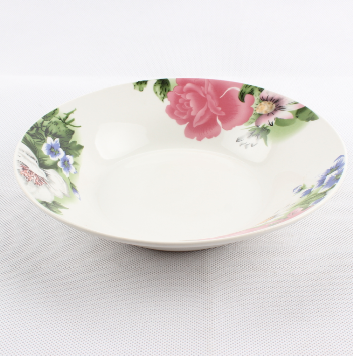 OEM cheap ceramic plates dishes for Africa , cheap super white porcelain soup plate