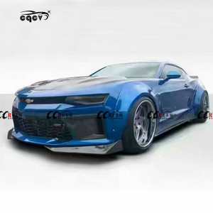 Newest wide body kit for Chevrolet Camaro in ED style carbon fiber front lip rear lip side skirts fender and wing spoiler