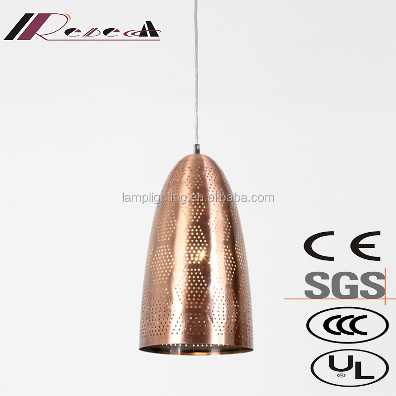 Modern copper etching carved decorative hanging pendant lamp for restaurant