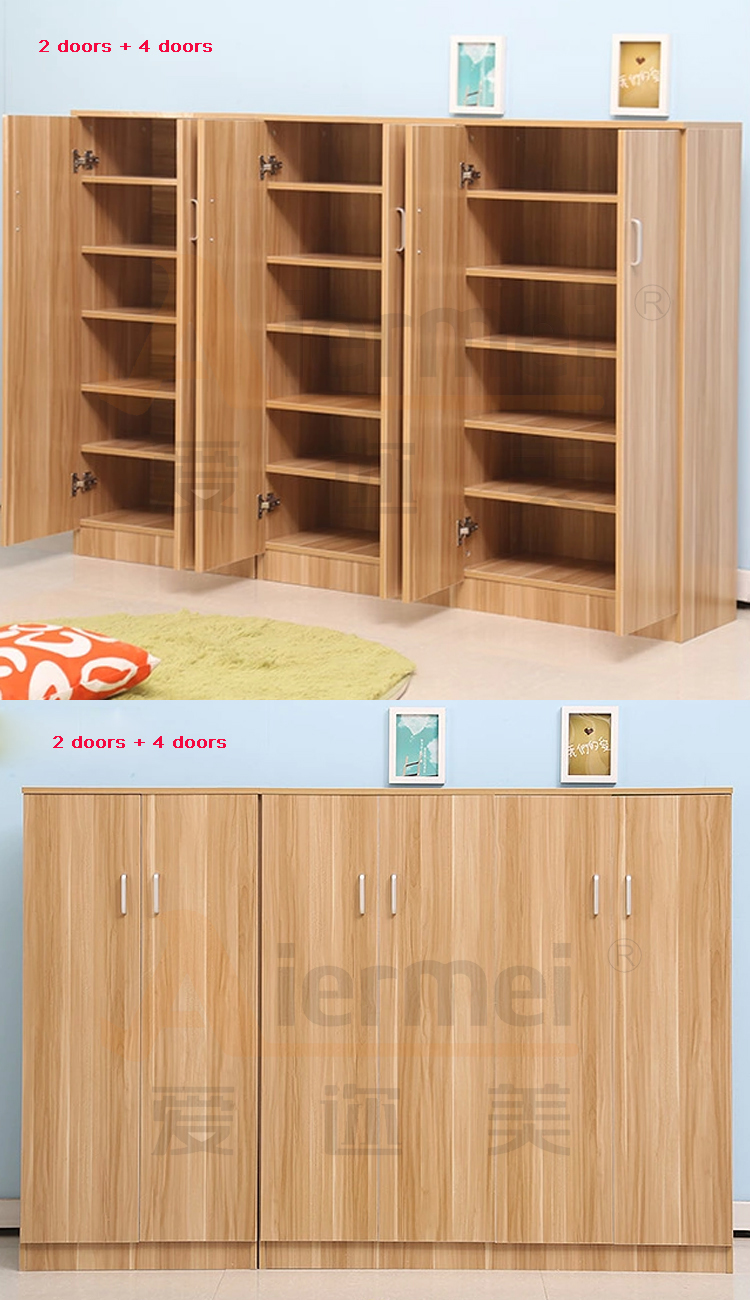 Simple Shoe Storage Cabinet Multi Assemble Timber Solid Wood Shoe ...