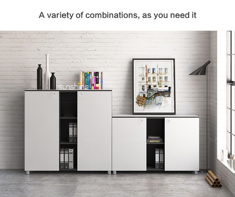 BY Modern office furniture simple design corner filling cabinet staff area use