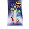 Promotional Gift Digital Print Your Own Design Quick Dry Custom Microfiber Towel Beach
