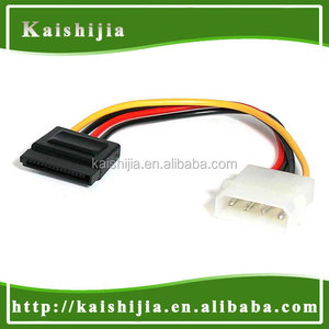 Molex to SATA Cable,18cm Male 4Pin Molex To Female 15Pin SATA Power Adapter Cable