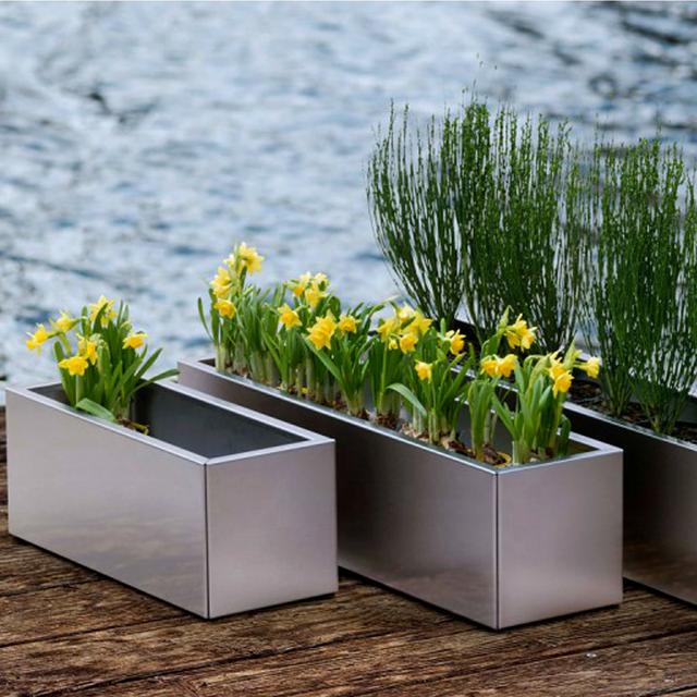 Planter Flower Pots Tall Metal