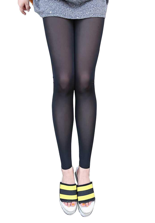 bab424eaf61516 Get Quotations · BecyWell Women Summer Sun Block Leggings UV Protective  Cool Ice Silk Sports Tights