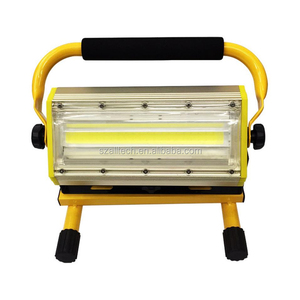 2018 hotcake W812-1 50W 100W COB Led home outdoor battery operated portable work emergency rechargeable flood light for camping