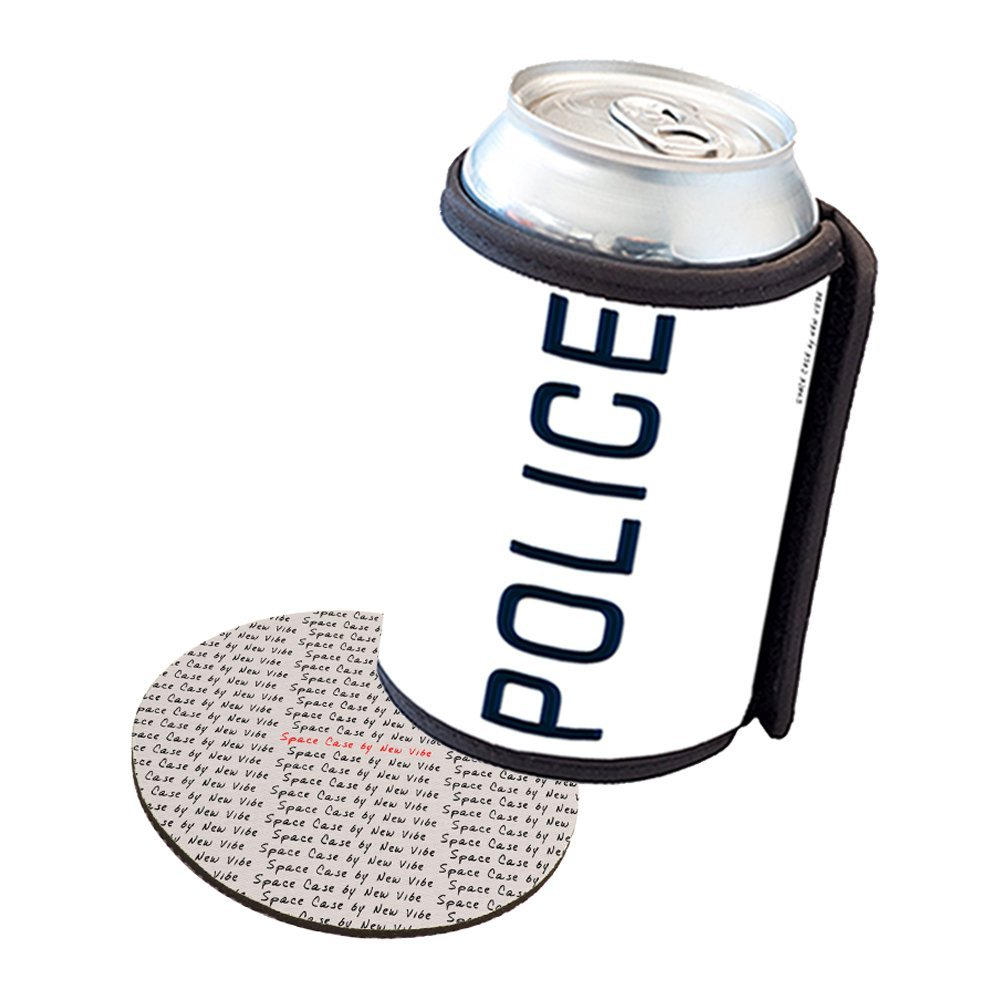 Space Case by New Vibe Can Cooler Koozie - Police