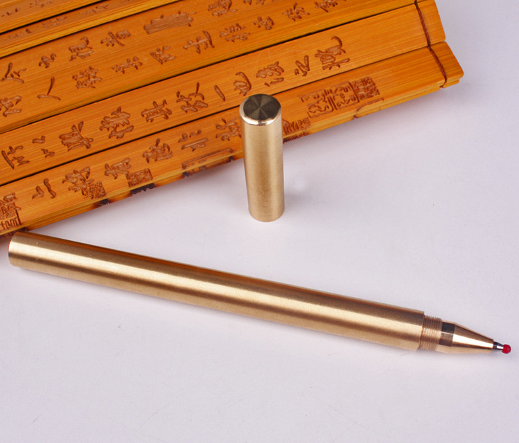 Newest High Quality handmade brass <strong>pen</strong> copper <strong>pen</strong> Golden Rollerball Roller Ball <strong>Pen</strong> Writing Fluent Office Stationery