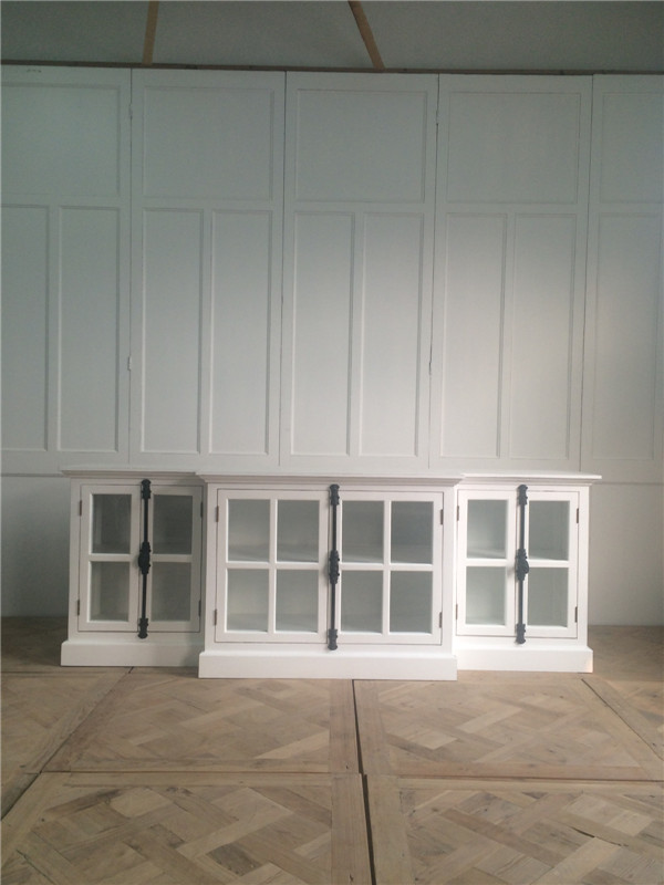 De madera recuperada Salón Blanco antiguo vintage muebles TV ...
