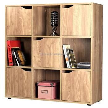 Wooden Storage Cubes 5 Door 9 Cube