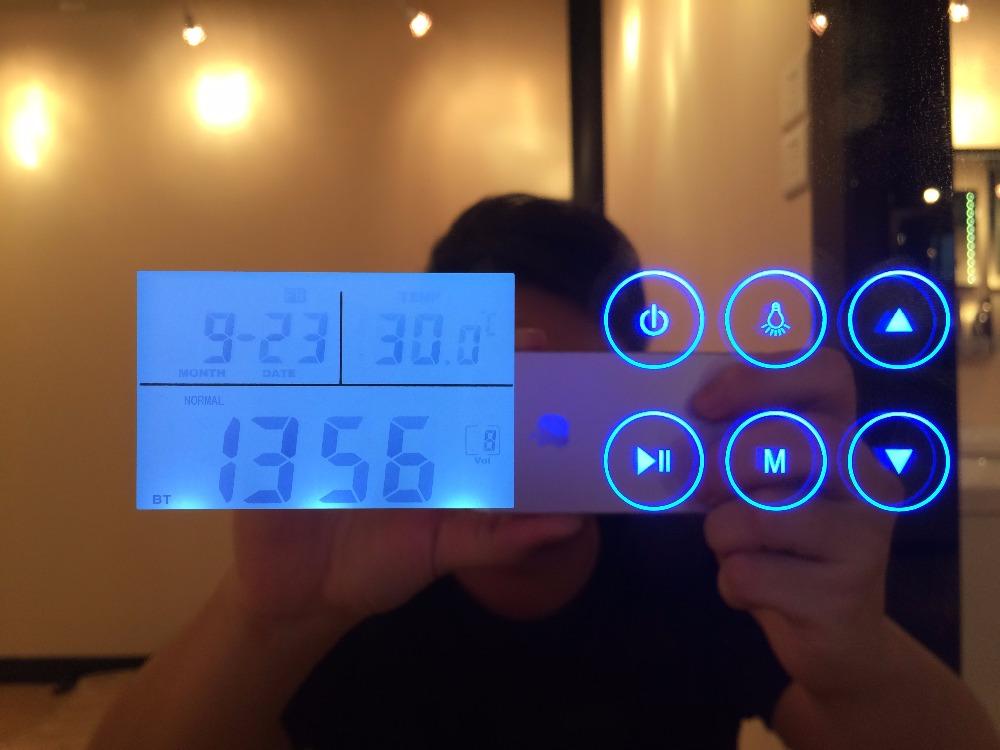 Nieuwe ontwerp badkamer smart led spiegel met bluetooth radio en klok sm 001 bad spiegels - Gemeubleerde salle de bains ontwerp ...