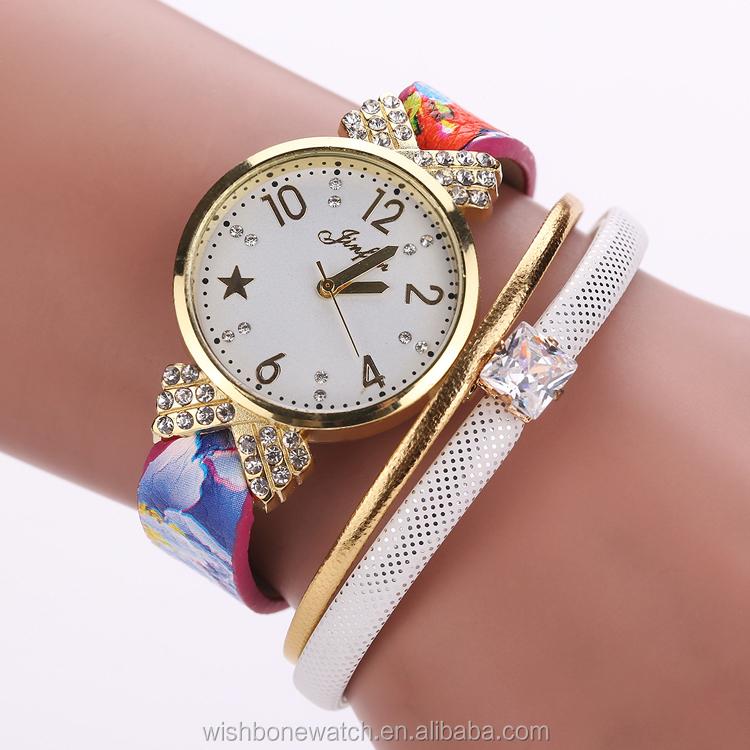 28997806e7ae1 New Women s Bracelet Watches multi layer band shiny Crystal Quartz Braided  Winding Wrap Wrist Watch clock lady reloj mujer