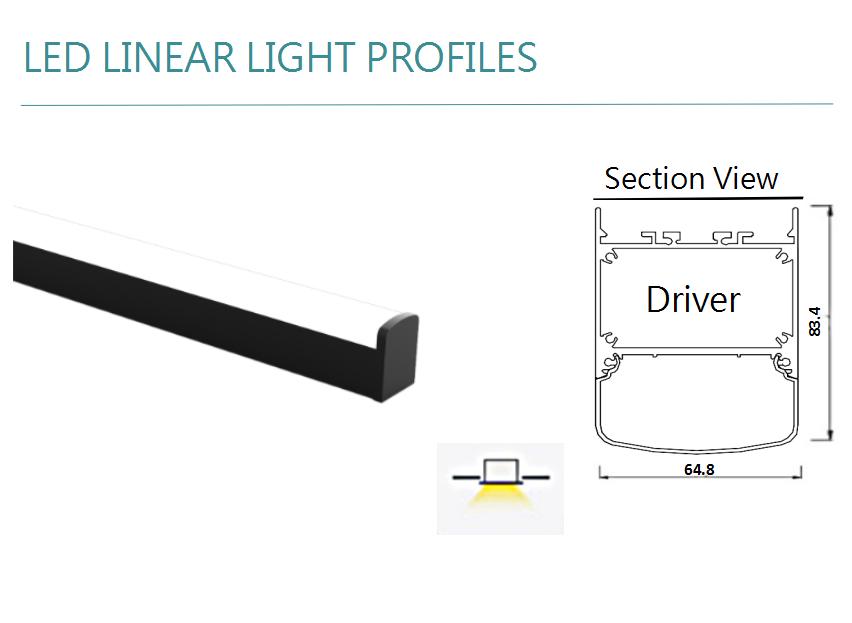 36w Super Brightness Linear Batten Ip65 Waterproof Pendant Led Linear Light Fixture Outdoor Lamp