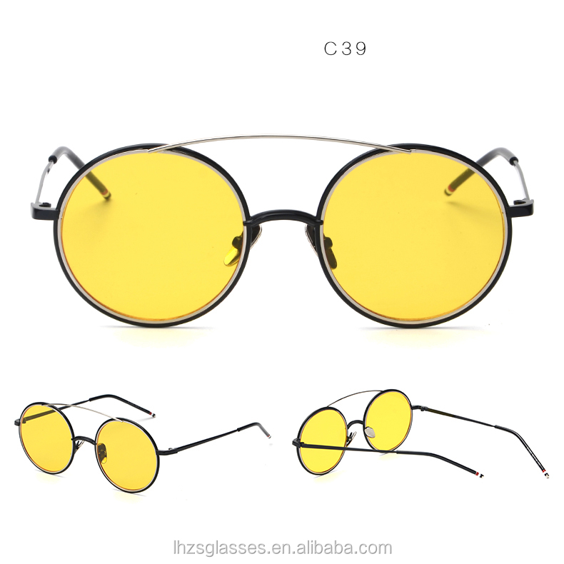 Top qualidade multi-cor coração forma de lente arredondados de metal full  frame retro óculos fd6a5fe23f
