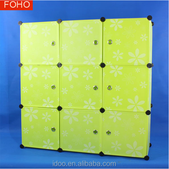 Free Standing Pp Storage Cabinets With Doors Plastic White Storage - Plastic bookshelves