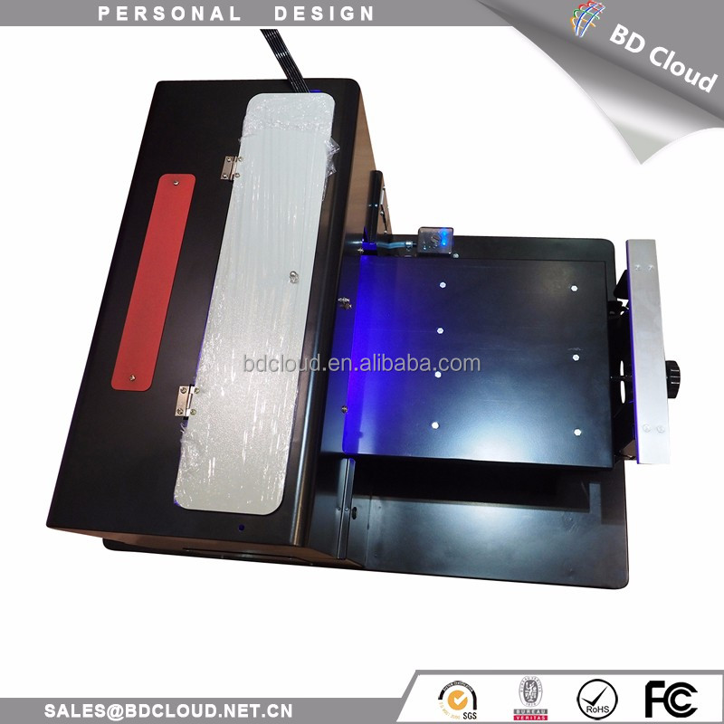 Hot sale A3 size digital flatbed 6 color 3d glass uv inkjet printer