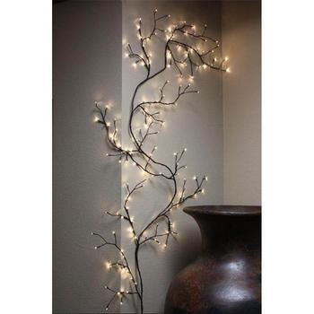 Best Selling Home Decoration Brown Wrapped Lighted Willow Vine
