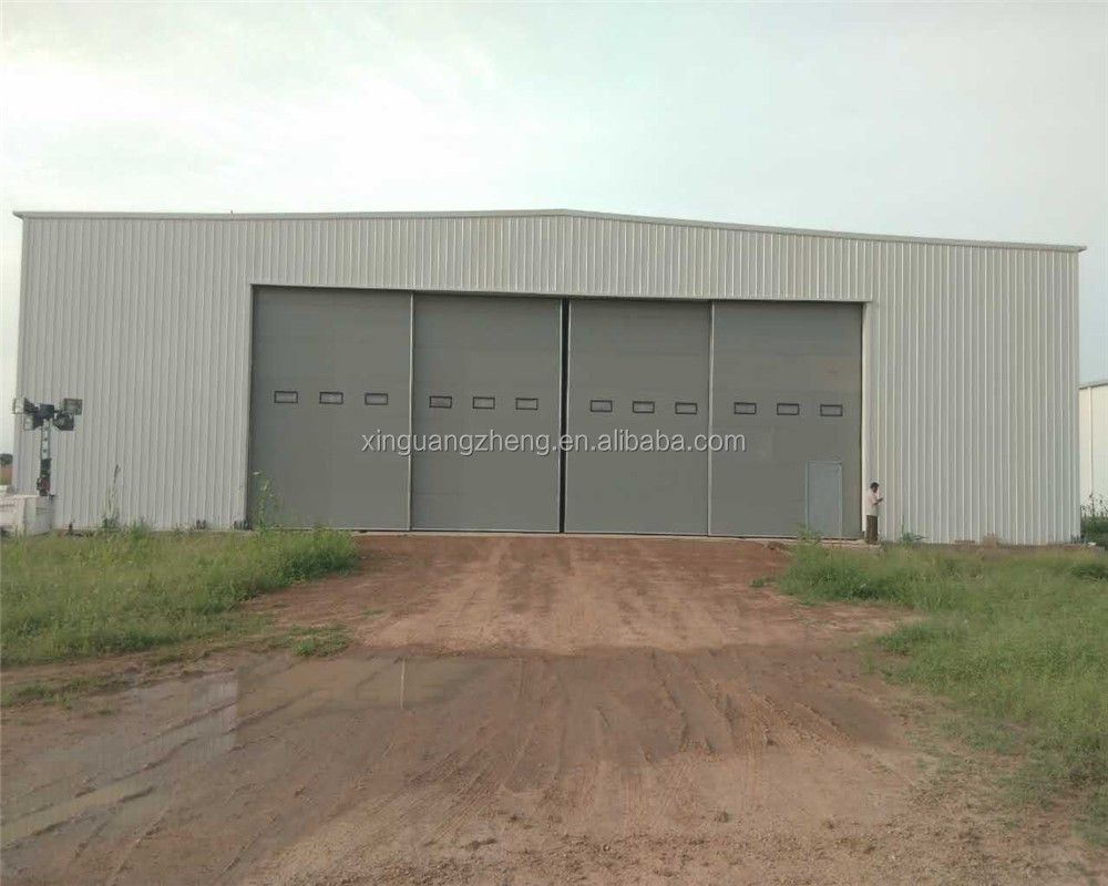 prefabricated light truss steel hangar