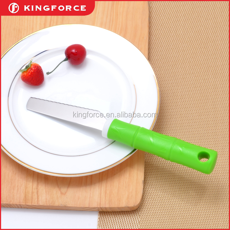 KF210036 new products stainless steel kitchen bread knife for cake decoration tool with plastic handle