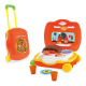 Kids kitchen set toy girls kitchen toy traveling luggage set with pretend play food set pizza party toy parts 21PCS