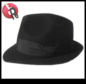 Indiana Jones Men'S 100% Wool Felt Gangster Brim Fedora Safari Dress Derby Hat