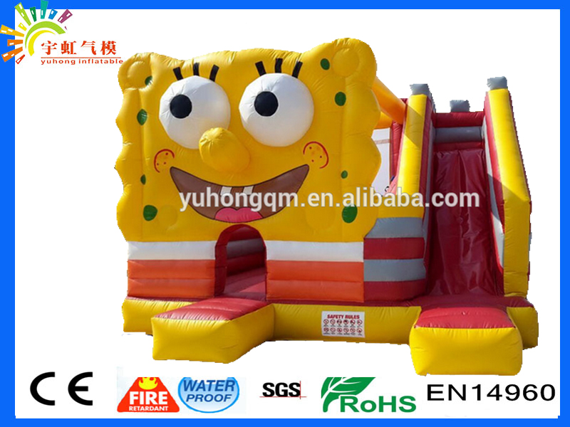 Burst sale!!! new design competitive price 2016 spongebob inflatable bounce house